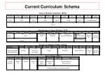 current curriculum schema