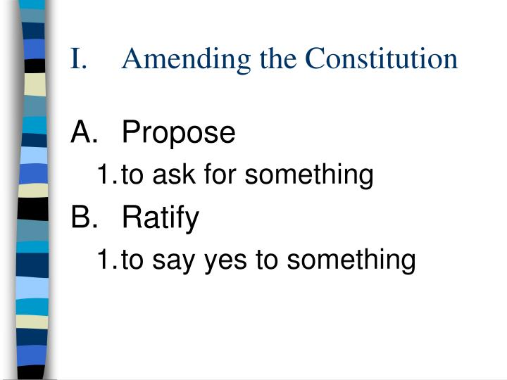 i amending the constitution n.