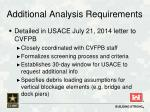 additional analysis requirements