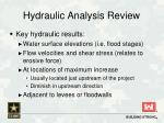 hydraulic analysis review3
