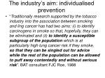 the industry s aim individualised prevention