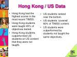 hong kong us data