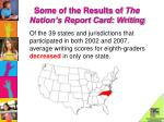 some of the results of the nation s report card writing