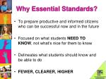 why essential standards