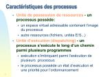 caract ristiques des processus