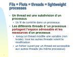 fils flots threads lightweight processes