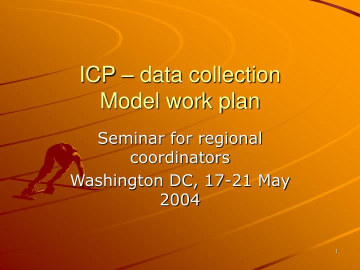 icp data collection model work plan n.