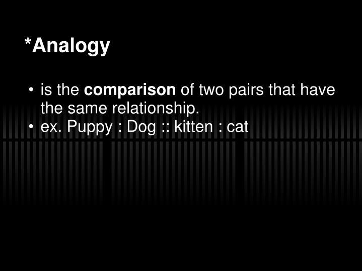 *Analogy