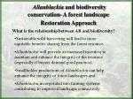 allanblackia and biodiversity conservation a forest landscape restoration approach