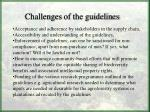challenges of the guidelines