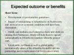 expected outcome or benefits1