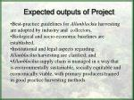 expected outputs of project