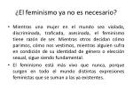 el feminismo ya no es necesario