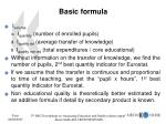 basic formula