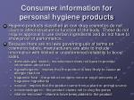 consumer information for personal hygiene products3