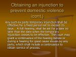 obtaining an injunction to prevent domestic violence cont1