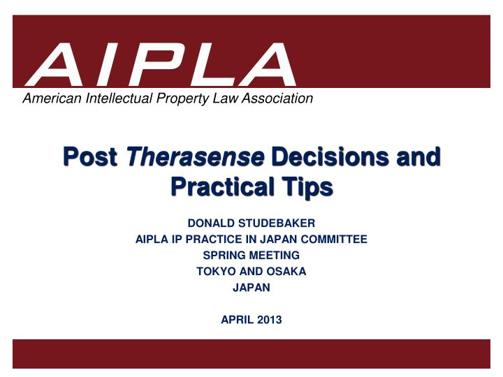 post therasense decisions and practical tips n.
