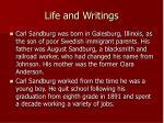 life and writings