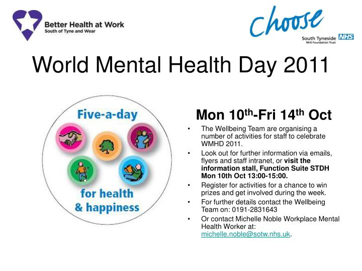 world mental health day 2011 n.