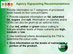 agency signposting recommendations