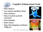 cognitive enhancement goals