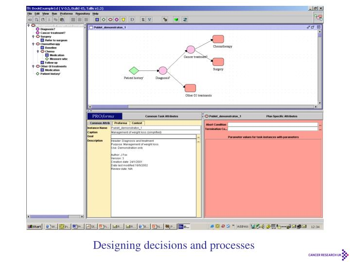 Designing decisions and processes