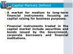 capital markets defined