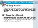 classification of capital markets