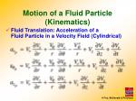motion of a fluid particle kinematics5