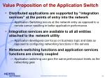 value proposition of the application switch