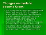changes we made to become green