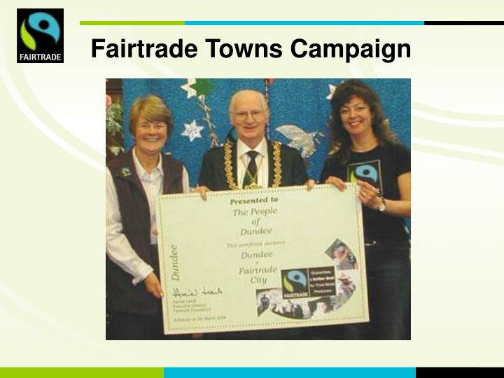 Fairtrade Towns Campaign