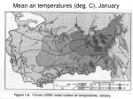 mean air temperatures deg c january