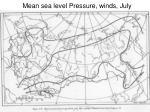 mean sea level pressure winds july