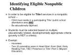 identifying eligible nonpublic children