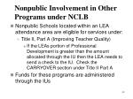 nonpublic involvement in other programs under nclb