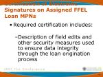 certification of electronic signatures on assigned ffel loan mpns