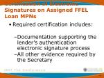 certification of electronic signatures on assigned ffel loan mpns2