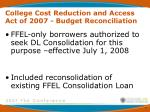 college cost reduction and access act of 2007 budget reconciliation1