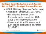 college cost reduction and access act of 2007 budget reconciliation11