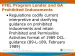 ffel program lender and ga prohibited inducements2