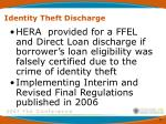 identity theft discharge