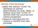 identity theft discharge1