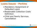 loans issues perkins