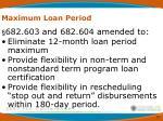 maximum loan period