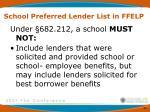 school preferred lender list in ffelp4