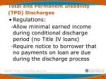 total and permanent disability tpd discharges3