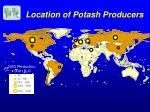 location of potash producers