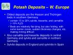 potash deposits w europe
