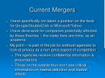 current mergers